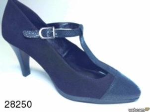 Zapato de vestir de abeja-ante color negro (28250)