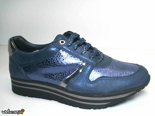 Deportivo de piel color azul (31530)