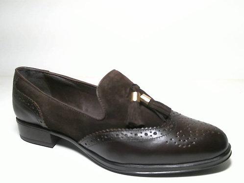 Zapato de vestir de anilina-serraje color marron (29539)