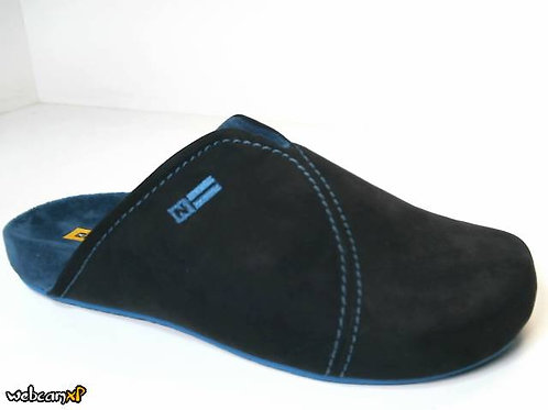 Zapatilla de casa de microsuede color negro (31015)