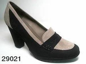 Zapato de vestir de serraje color negro (29021)