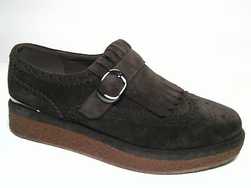 Zapato de vestir de crosta color marron (29448)