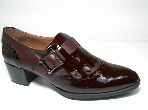 Zapato de vestir de charol-napa color burdeos (29083)