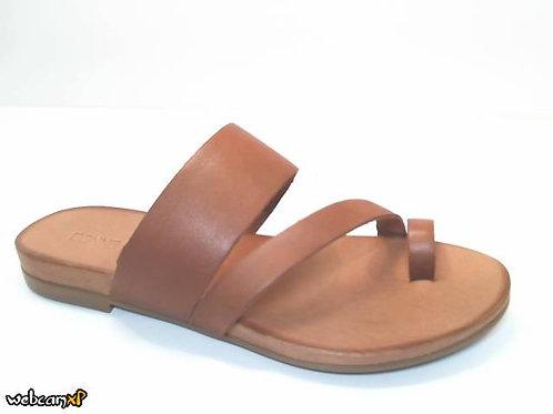 Sandalia de piel color cuero (32412)