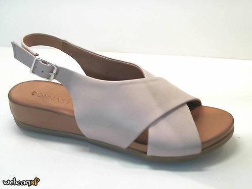 Sandalia de piel color cuero (32443)