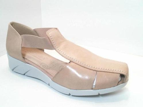 Sandalia de piel color hielo (32568)