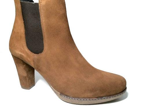 Zapato de vestir de serraje color cuero (29406)