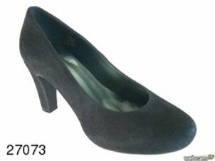 Zapato de vestir de ante color negro (27073)