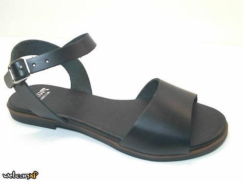 Sandalia de vaquetilla color negro (32366)