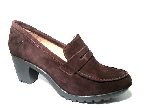 Zapato de vestir de serraje color burdeos (29385)
