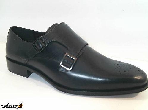 Zapato de vestir de piel color negro (32027)