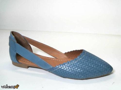 Zapato de entretiempo de piel suave color azul (31747)