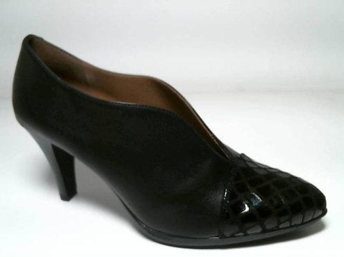 Zapato de vestir de antehuella-napa color negro (29107)
