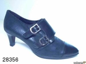 Zapato de vestir de napa-abeja color negro (28356)