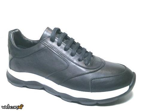Deportivo de piel color negro (32120)