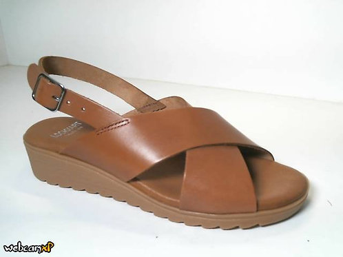 Sandalia de vaquetilla color marron (31729)