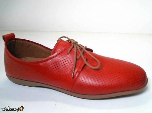 Deportivo de piel color rojo (31841)