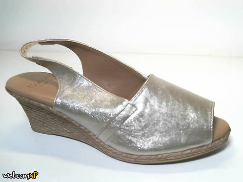 Sandalia de livorno color oro (31875)