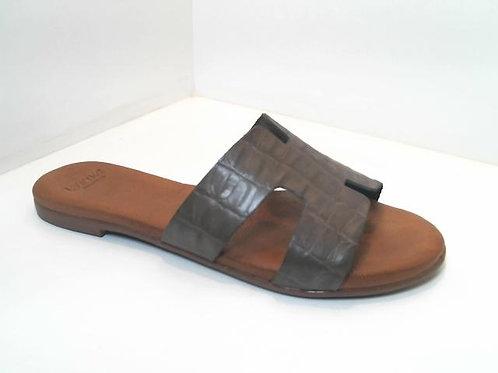 Sandalia de croco color kaki (32538)