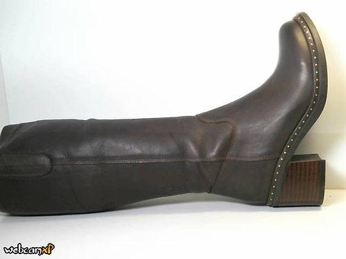 Bota de piel color marron (31045)