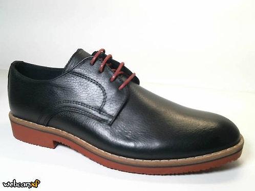 Zapato tipo casual de piel galicia color negro (31485)