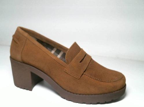 Zapato de vestir de serraje color cuero (29369)