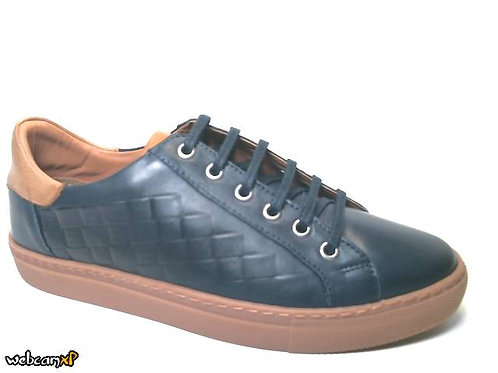 Deportivo de piel color azul (32118)