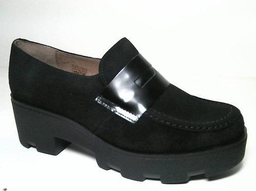 Zapato de vestir de serraje-florentik color negro (29545)