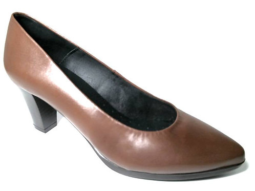 Zapato de vestir de seta color cuero (29370)