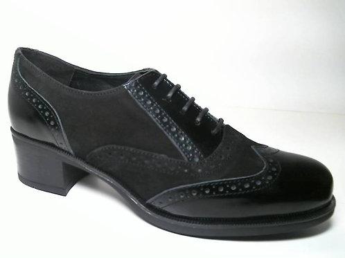 Zapato de vestir de florentic-serraje color negro (29659)