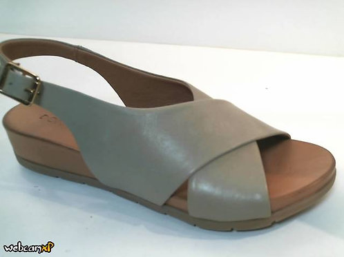 Sandalia de piel color verde (32449)