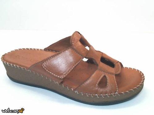 Sandalia de piel color cuero (32420)
