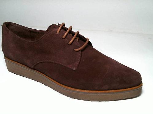 Zapato de vestir de serraje color burdeos (29055)