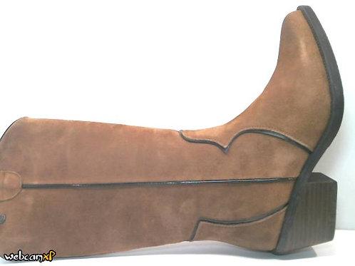 Bota de serraje color cuero (32141)