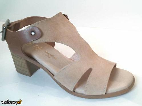 Sandalia de serraje color beige (32485)