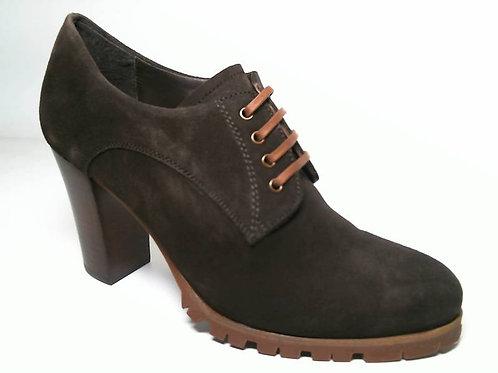 Zapato de vestir de serraje color marron (29627)