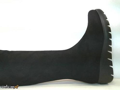 Bota de microfibra elastica color negro (32150)