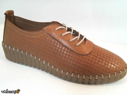 Deportivo de piel color cuero (31996)