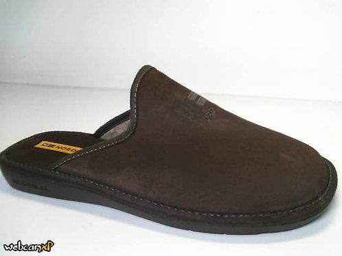 Zapatilla de casa de afelpado color marron (31534)