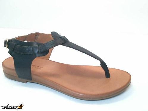 Sandalia de piel color negro (32457)