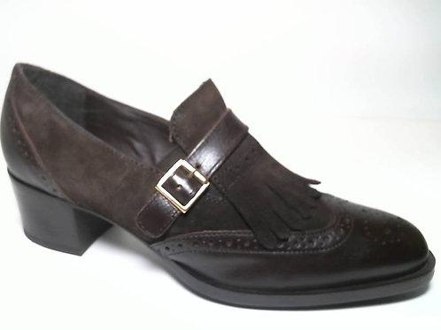 Zapato de vestir de anilina-serraje color marron (29664)