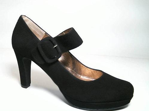 Zapato de vestir de ante color negro (29654)