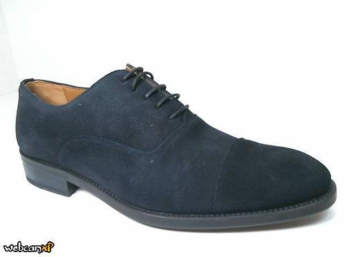 Zapato de vestir de superbuck color azul (30116)