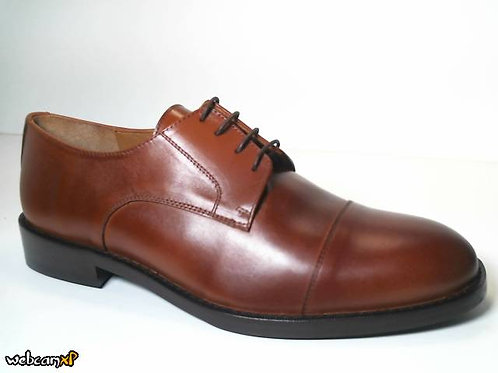 Zapato de vestir de box color cuero (31678)