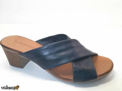Sandalia de piel color azul (32428)