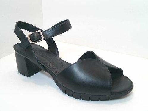 Sandalia de piel color negro (32550)