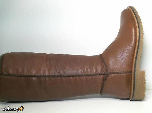 Bota de piel color cuero (31625)