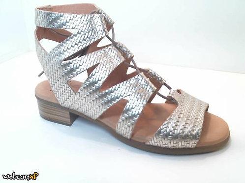 Sandalia de metal.espiga color metal (32491)