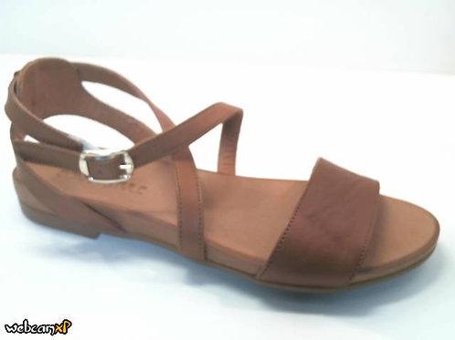 Sandalia de piel color cuero (32454)