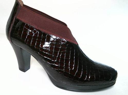 Zapato de vestir de cococharol color burdeos (29634)